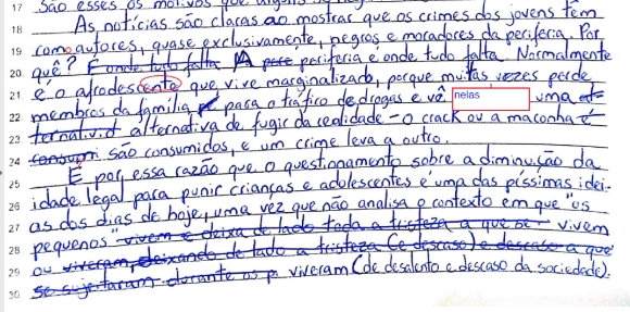 Rasura na OAB - como desconsiderar uma frase na prova escrita