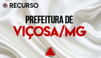 Recurso   Concurso   Prefeitura de Viçosa/MG