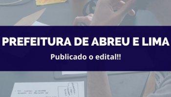 CONCURSO PREFEITURA ABREU E LIMA (14/02/2020): Publicado o Edital!!