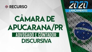Recurso | Concurso | Câmara de Apucarana/PR | Prova Discursiva