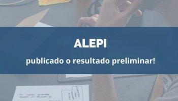 CONCURSO ALEPI (06/02/2020): publicado o resultado preliminar!
