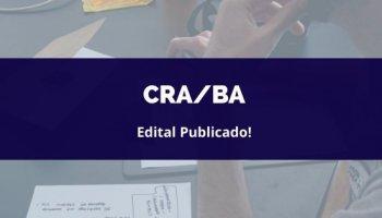 CONCURSO CRA/BA (26/02/2020): Edital publicado!