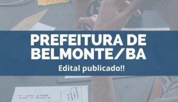 CONCURSO PREFEITURA DE BELMONTE/BA (17/12/2019): Edital publicado!!
