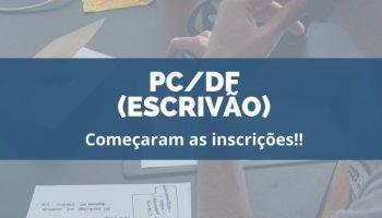 CONCURSO PC/DF (Escrivão) (22/01/2020): Começaram as inscrições!!