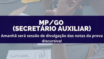 CONCURSO MP/GO (Servidor) (26/02/2020): Amanhã será sessão de divulgação das notas da prova discursiva!