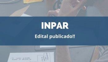 CONCURSO INPAR (13/01/2020): Edital publicado!!