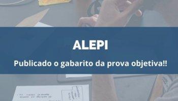 CONCURSO ALEPI (14/01/2020): Publicado o gabarito da prova objetiva!!
