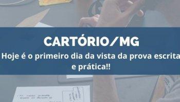 CONCURSO CARTÓRIO/MG (16/01/2020): Hoje é o primeiro dia da vista da prova escrita e prática!!