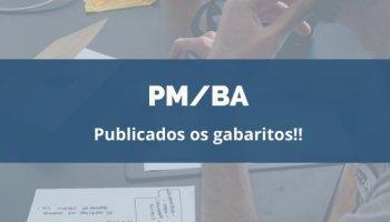 CONCURSO PM/BA (22/01/2020): Publicados os gabaritos!!
