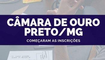 CONCURSO CÂMARA DE OURO PRETO/MG (24/09/2019): Começaram as inscrições!!