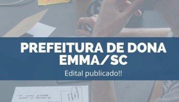 CONCURSO PREFEITURA DE DONA EMMA/SC (19/11/2019): Edital Publicado!!