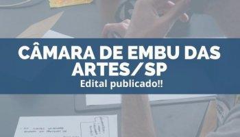 CONCURSO CÂMARA DE EMBU DAS ARTES/SP (28/11/2019): Edital publicado!!