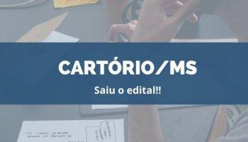CONCURSO CARTÓRIO/MS (02/12/2019): Saiu o edital!!
