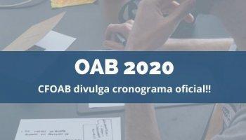 OAB 2020 (02/12/2019): CFOAB divulga cronograma oficial para OAB 2020!!