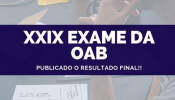 RESULTADO OAB XXIX EXAME DE ORDEM (24/09/2019): Saiu o resultado definitivo!!