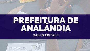 CONCURSO PREFEITURA DE ANALÂNDIA (16/10/2019): Saiu o edital!!
