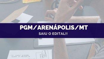 CONCURSO PGM/Arenápolis/MT (24/09/2019): Saiu o edital!!