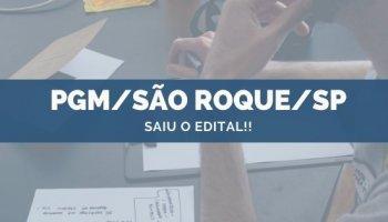 CONCURSO PGM/SÃO ROQUE/SP (28/10/2019): Saiu o edital!!