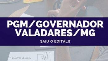 CONCURSO PGM/Governador Valadares/MG (25/09/2019): Saiu o edital!!