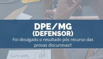 CONCURSO PARA DPE/MG (Defensor) (18/11/2019): Foi divulgado o resultado pós recurso das provas discursivas!!