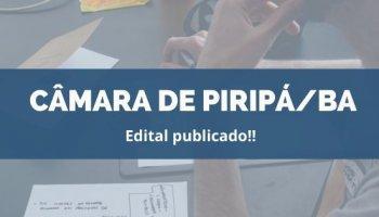 CONCURSO CÂMARA MUNICIPAL DE PIRIPÁ/BA (22/11/2019):Edital Publicado!!