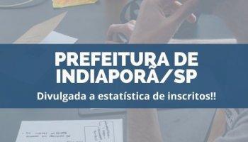 CONCURSO PREFEITURA DE INDIAPORÃ/SP (03/12/2019):Divulgada a estatística de inscritos!!