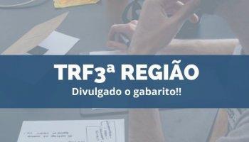 CONCURSO TRF3ª REGIÃO (Servidores) (03/12/2019): Divulgado o gabarito!!