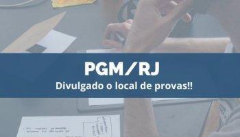 CONCURSO PGM/RJ (03/12/2019): Divulgado o local de provas!!
