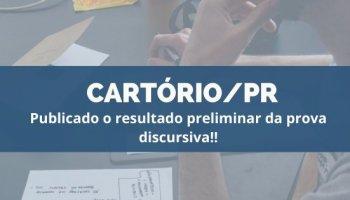 CONCURSO CARTÓRIO/PR (06/10/19):Publicado o resultado preliminar da prova discursiva!!