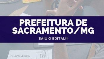 CONCURSO PREFEITURA DE SACRAMENTO/MG (02/10/2019): Saiu o edital!!