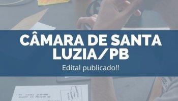 CONCURSO CÂMARA DE SANTA LUZIA/PB (19/11/2019): Edital publicado!!