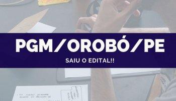 CONCURSO PGM/Orobó/PE (07/10/2019): Saiu o edital!!