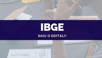 CONCURSO IBGE (25/09/2019): Saiu o edital!!