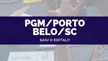 CONCURSO PGM/PORTO BELO/SC (14/10/2019): Saiu o edital!