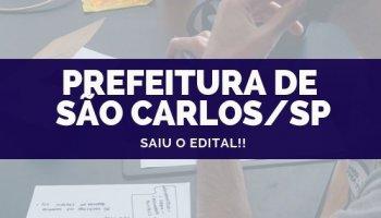 CONCURSO PREFEITURA DE SÃO CARLOS/SP (15/10/2019): Saiu o edital!!