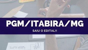 CONCURSO PGM/Itabira/MG (Procurador) (16/10/2019): Saiu o edital!!