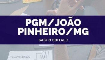 CONCURSO PGM/JOÃO PINHEIRO/MG (Procurador) (17/10/2019): Saiu o edital!!