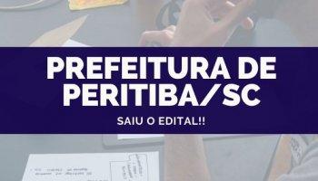 CONCURSO PREFEITURA DE PERITIBA/SC (18/10/2019): Saiu o edital!!
