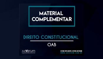 OAB - DIREITO CONSTITUCIONAL
