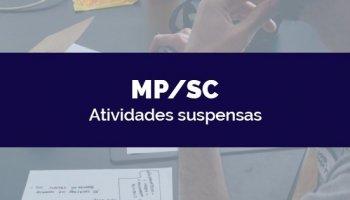 CONCURSO MP/SC 2020 (Promotor) (24/03/2020): Atividades suspensas
