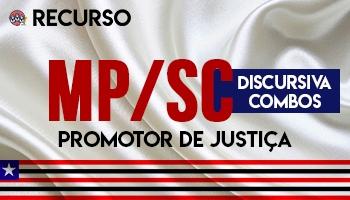 Recurso | Concurso | Promotor de Justiça do Ministério Público de Santa Catarina (MP/SC) (COMBO)