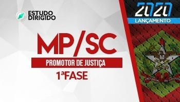Curso | Concurso MPSC | Promotor de Justiça | 1ª Fase | Estudo Dirigido
