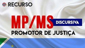Recurso   Concurso   Promotor de Justiça do Mato Grosso do Sul (MP/MS)
