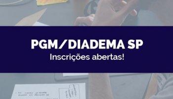 CONCURSO PGM/DIADEMA SP: Inscrições abertas!