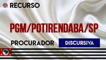 Recurso   Concurso   Procurador do Município de Potirendaba/SP