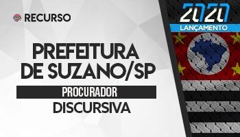 Recurso   Concurso   Procurador da Prefeitura de Suzano/SP