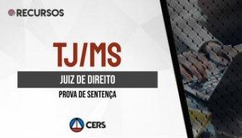 Recurso | Concurso | Juiz de Direito do Mato Grosso do Sul (TJ/MS) | Sentença