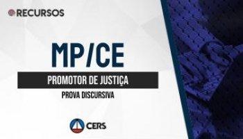 Recurso | Concurso | Promotor de Justiça do Ceará (MP/CE) | Prova Discursiva
