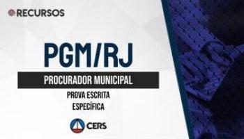 Recurso   Concurso   Procurador do Município do Rio de Janeiro (PGM/RJ)