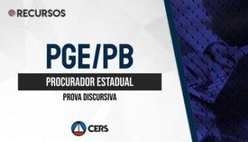 Recurso | Concurso | Procurador da Paraíba (PGE/PB) | Discursiva